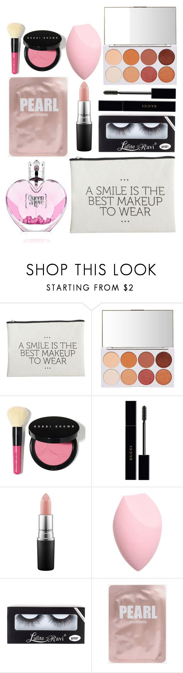 """Whats in my makeup bag!!!"" by reanna-fisk ❤ liked on Polyvore featuring beauty, House Doctor, Bobbi Brown Cosmetics, Gucci and MAC Cosmetics"