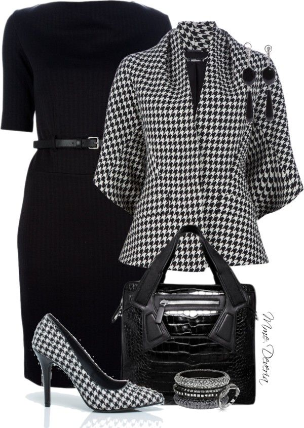 """""""Houndstooth combo"""" by madamedeveria on Polyvore"""