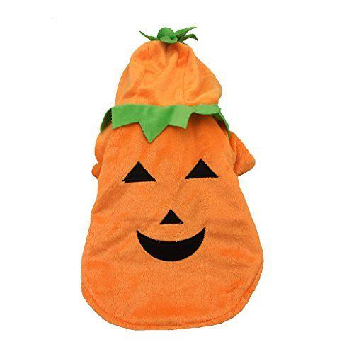 Halloween K�rbis Cosplay Hundekost�me Weihnachten Hundebekleidung Herbst Winter Hundemantel Orange XL