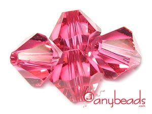 Indian Pink - Austrian Swarovski Crystal Elements 5301/5328 Xilion Bead Bicones 4mm