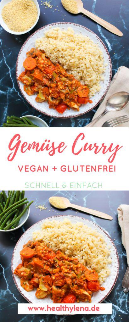 Gemüse-Curry mit Hirse – schnell & einfach (vegan + glutenfrei)