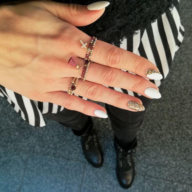 Pierścionek Full Moon Granat - Selfie Jewellery - Sklep Internetowy