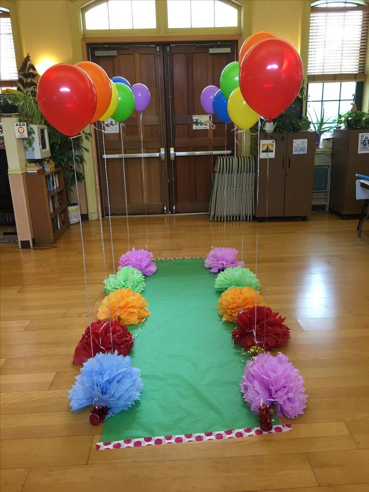 rainbow bridge for Girl Scout bridging ceremony