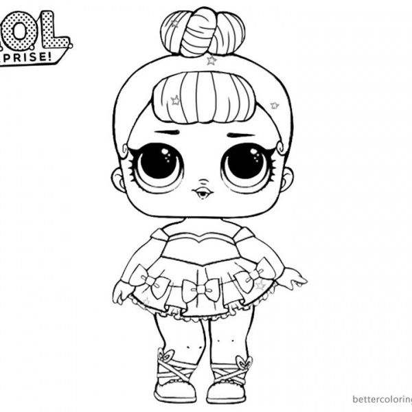 LOL Surprise Coloring Pages Cute Sugar Queen yaya 39 s