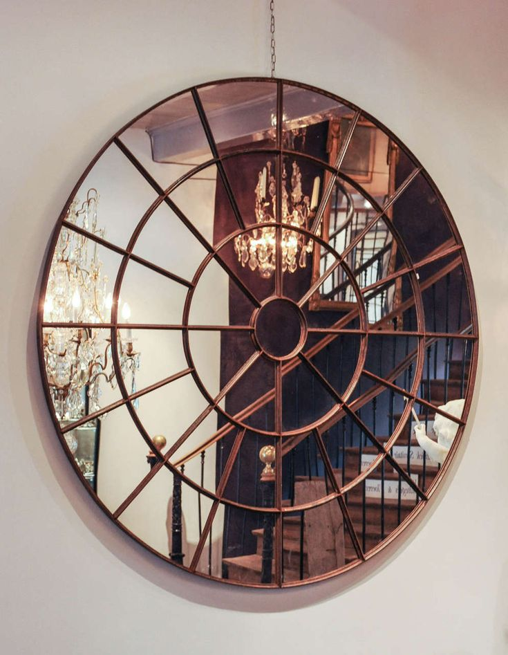 Large round mirrors for walls