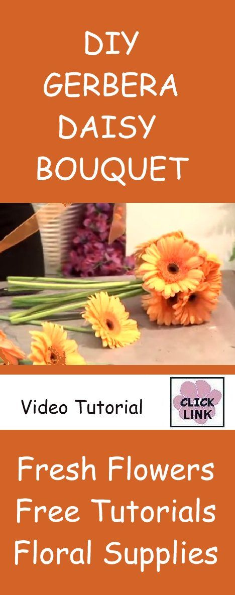 How to Make a Wedding Bouquet - Tips for making perfect Gerbera Daisy bridal bouquets.  Learn how to buy fresh flowers online and see more DIY tutorials for corsages, boutonnieres, centerpieces and more.