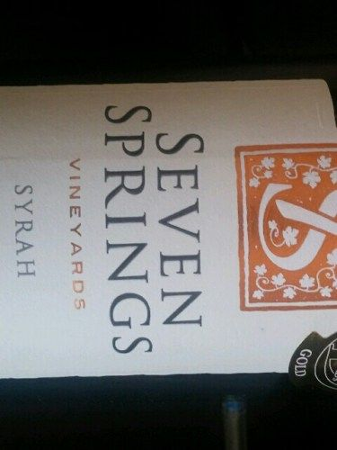 Seven Springs Vineyards Overberg Syrah 2012 is a fine example of a full bodied…