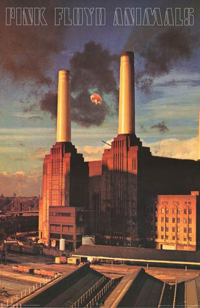 """A great poster of the unforgettable Hipgnosis album cover of Pink Floyd's 1977 LP Animals! Pigs on the Wing... Fully licensed. Ships fast. 24x36 inches. Take some """"Time"""" and check out the rest of our"""