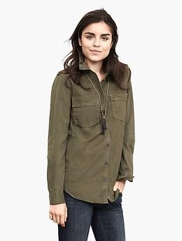 Soft-Wash Olive Utility Shirt