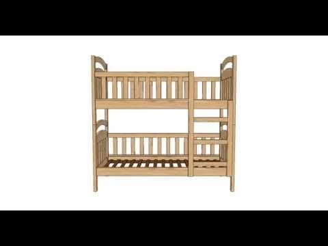 Конструкция двухъярусной кровати - YouTube