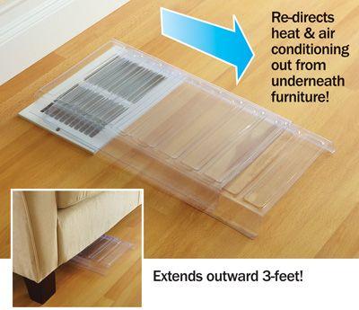 Plastic Air Redirecting Vent Extenders