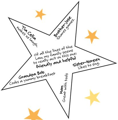 Session One: Take Home Activity: Making a Family Star  (pdf)  #brownie #quest #star