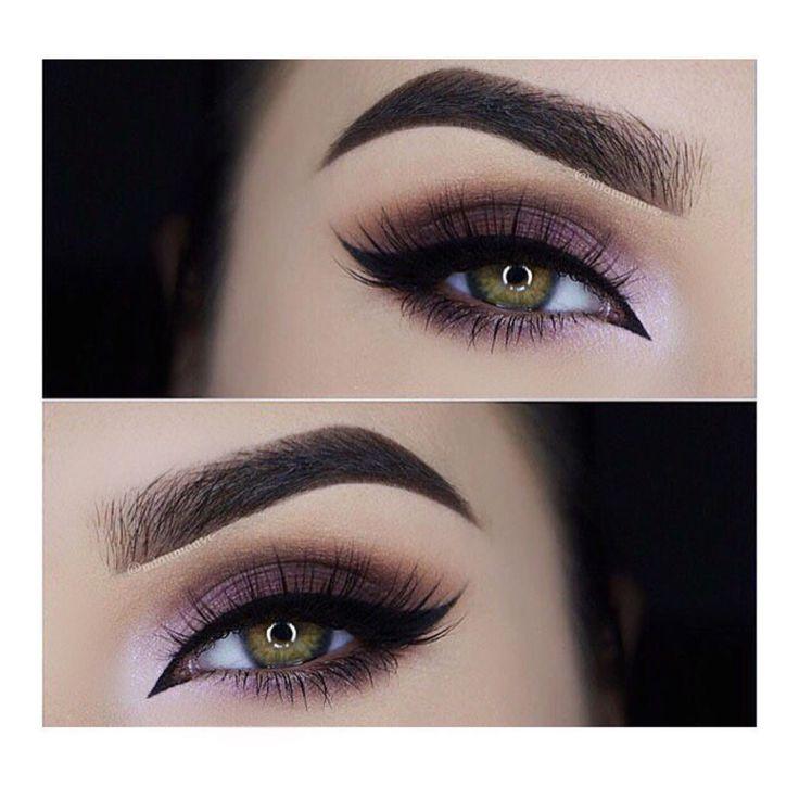 Smokey eye with a purple undertone