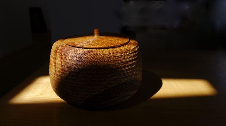 Limed Oak Vessel