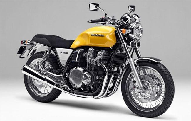 Honda apresenta sua moto retrô CB1100 em Tóquio