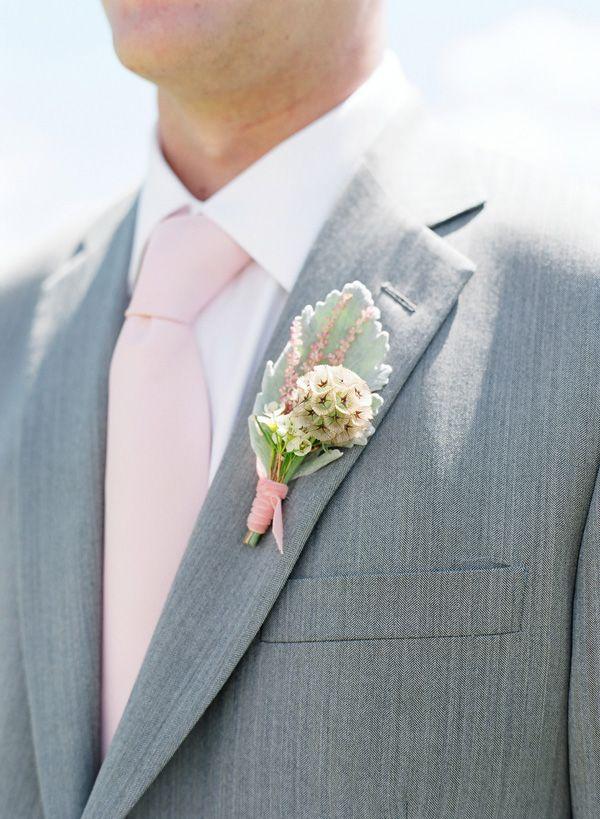 real colorado wedding - grooms attire, Boutonniere Ideas