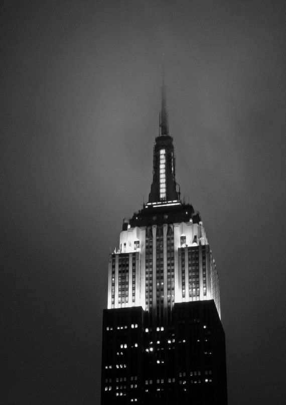 """Art Deco Fog II"" - The Empire State Building, NYC...great terrible humorous memory with my Marianne"