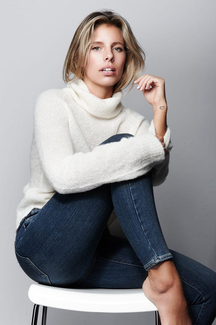 Tash Oakley in PAIGE Denim / Bay Sweater + Hoxton