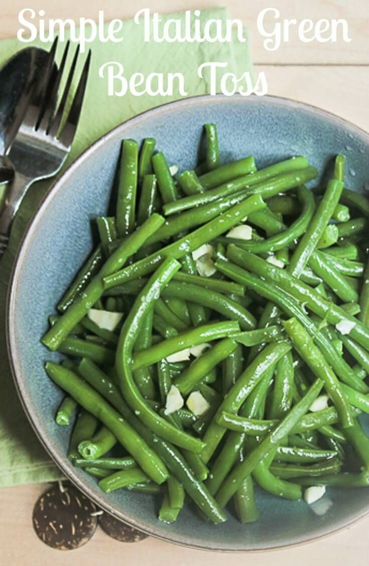 The best and only way to make green beans,Simple Italian Green Bean Toss. A healthy, fast and easy recipe made with fresh green beans. via @https://it.pinterest.com/Italianinkitchn/
