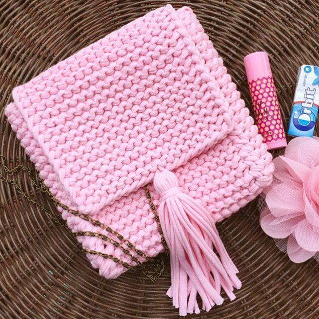 Купить Сумочка-планшет из трикотажной пряжи - вязаная сумка, сумка ручной работы, сумка женская