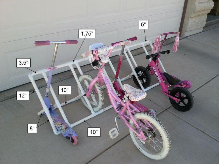 Child's PVC Bike Rack Dimensions