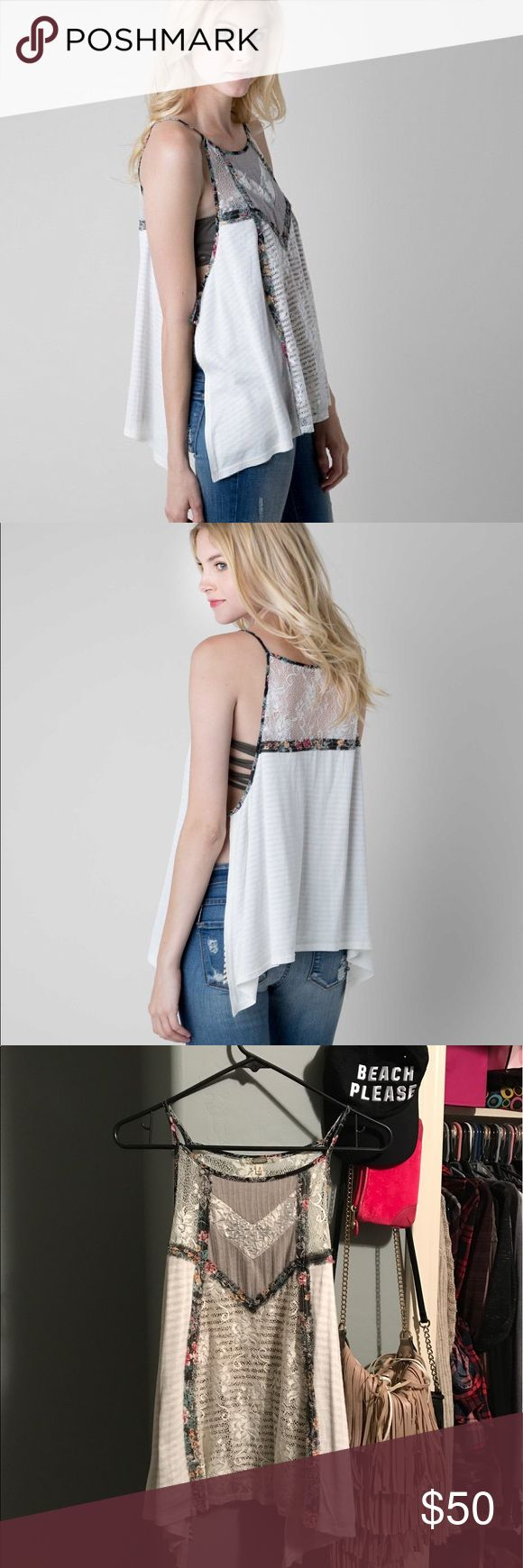 Gimmicks BKE Pieced Tank Small Cheaper on Ⓜ️ercari !! Sold out gimmicks bke from buckle Pieced cami tank size small! Is loose fitting so will fit sizes extra small to medium! Open on the sides and ties. Worn only once so it's like new!  ❌No trades. No holds. ❌  Free people, one teaspoon, miss me, rock Revival Buckle Tops Camisoles