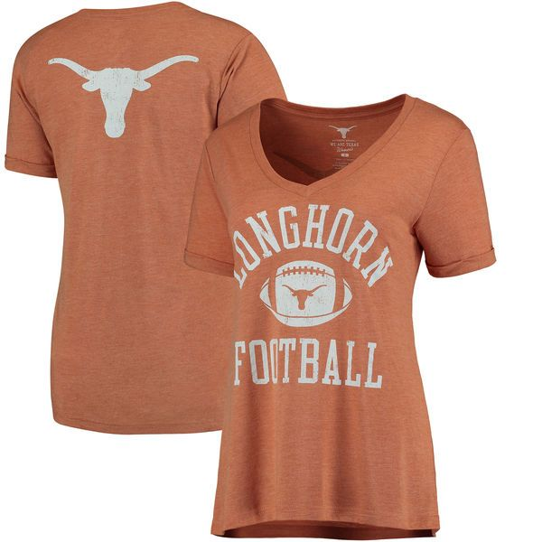 Texas Longhorns Women's Clare Cuffed Sleeve T-Shirt - Texas Orange - $37.99