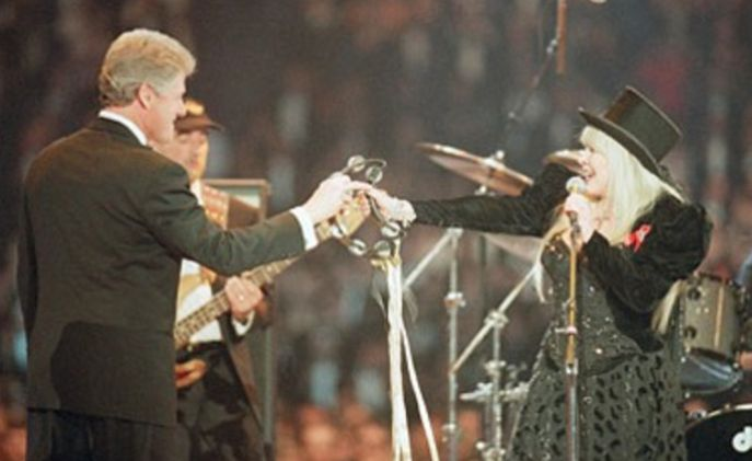 Stevie  ~ ☆♥❤♥☆ ~ rocking her top hat with  Bill Clinton, 1993; Fleetwood Mac re-formed to perform at Bill Clinton's inauguration. The band's 'Don't Stop' was used as the theme for his campaign  ~     Sin City's Today in Music History Thread - Page 12  ~  http://forums.govteen.com/showthread.php/368064-Sin-City-s-Today-in-Music-History-Thread/page12