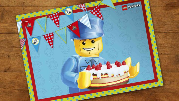 Birthday placemat Police