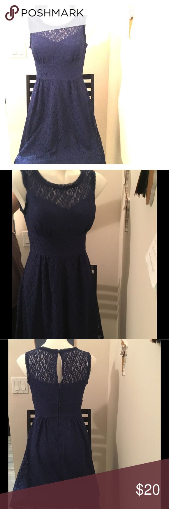 Navy Lace Dress Cute everyday dress, easily dressed up with some heels and a cute necklace or down with some flats and a jean jacket. Dress Barn Dresses Midi