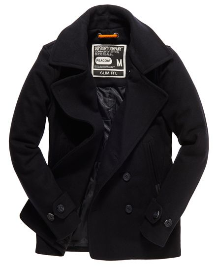 Superdry Commodity Slim Pea Coat - Men's Jackets