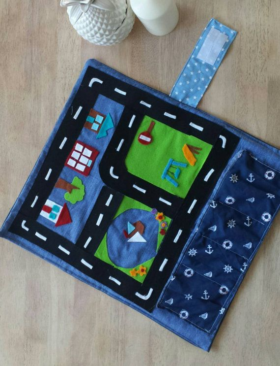 car play go roll up play mat boys childrens matchbox and hotwheels travel tote with mini town scene garages take anywhere