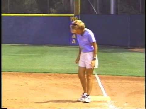 Fastpitch Softball Infield Drills Video: 1st Baseman Responsibilities : Softball Spot