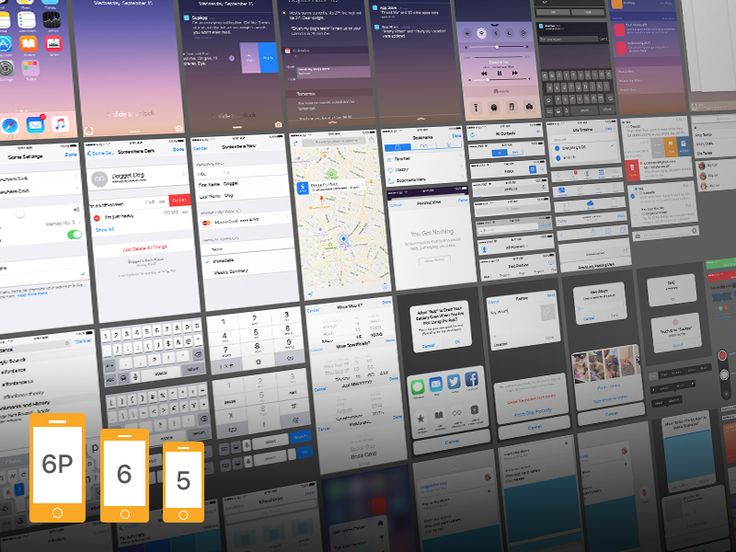 iOS 9 Complete UI (free PSDs for iPhone 6, 6 and 6 Plus) by Oz Pinhas