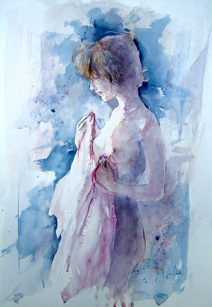"""Toni rosati"" Acquerello cm. 36x51"