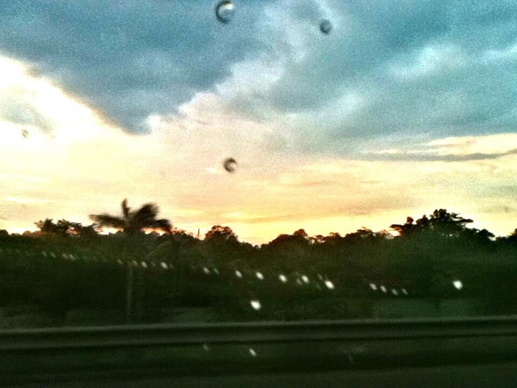 The sun after heavy rain.. Subhanallah