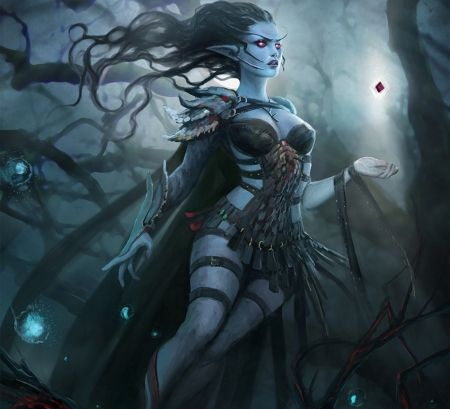 Dark Witch Glow Darkness Beautiful Abstract Art