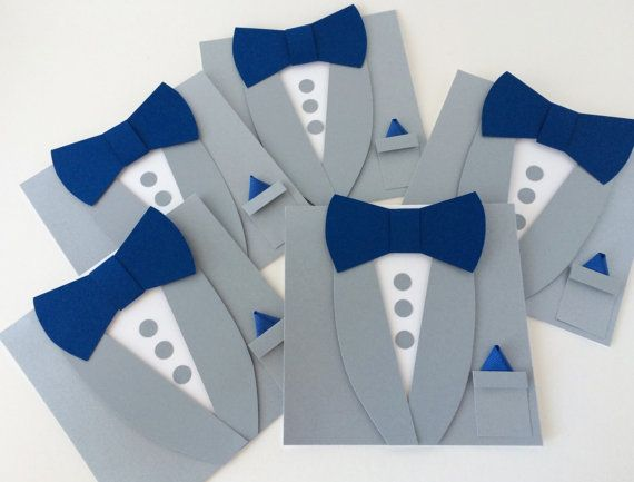 Gray Groomsmen Wedding Invitations - Tuxedo Bow Tie Card - Will you be my Best Man - Asking Groomsmen Wedding Invitation