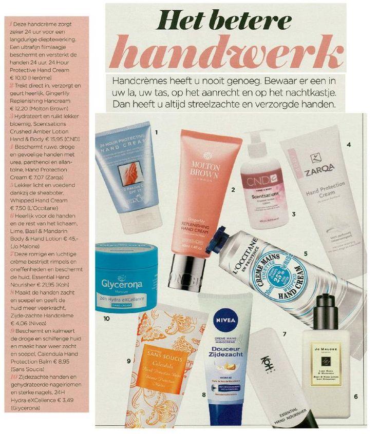 De Calendula Hand Protection Balm stond in maart in de top  10 van handcrèmes in het tijdschrift Vrouw! Deze balsem voor de handen beschermt en kalmeert de droge en schilferige huid en maakt de huid weer zacht en soepel.