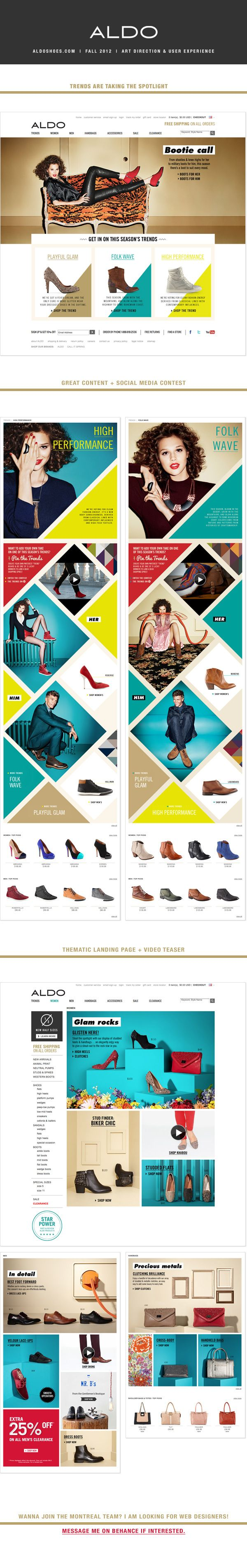 aldoshoes.com by Maya Rioux, via Behance