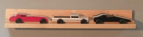 Pinewood Derby 3 Car Display Shelf   eBay