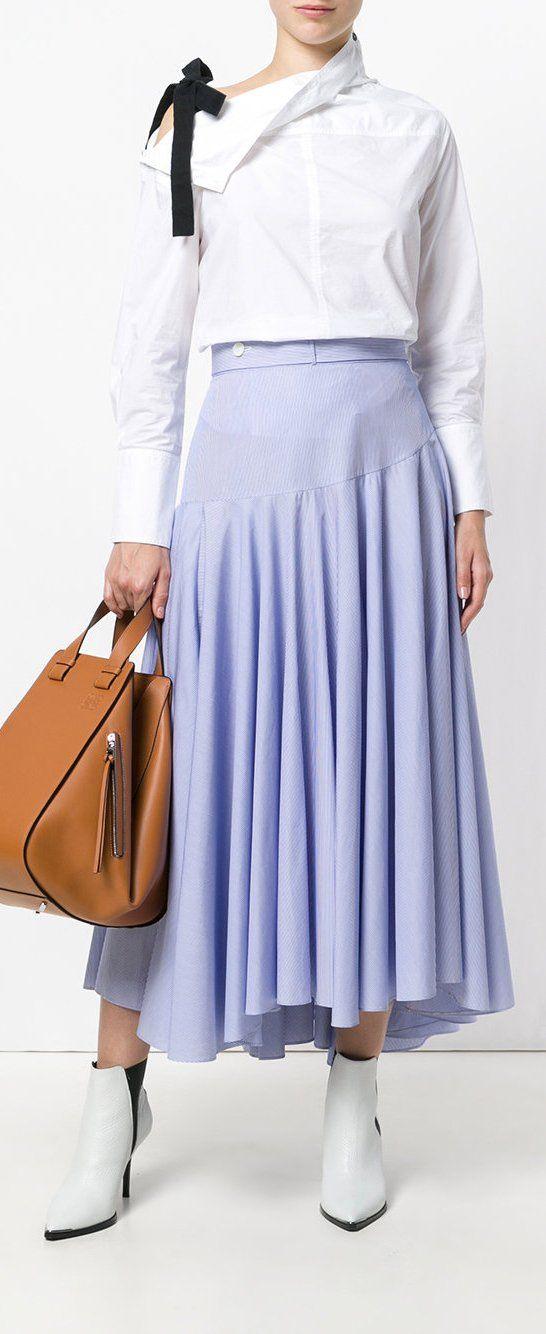 Loewe Striped A-line Skirt