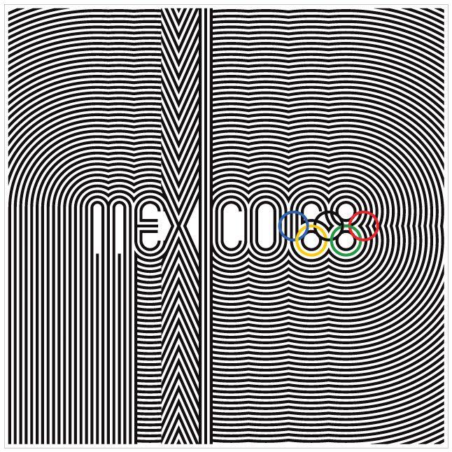 Mexico 68 Design     http://graphicambient.com/2012/07/26/1968-mexico-olympics-mexico/#