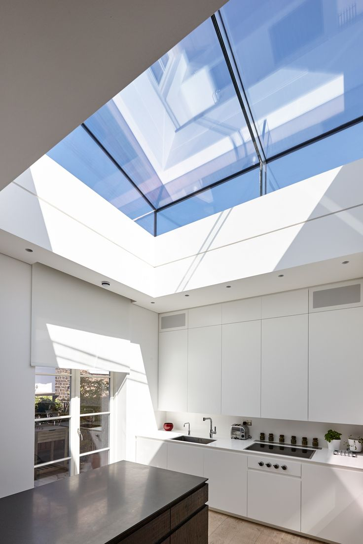 Delightful Trombe   Internal Photo Looking Up To A Frameless Structurally Glazed  Inclined Rooflight To Provide Light. Roof TerracesModern GlassWest ...