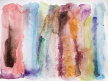 "Saatchi Art Artist Irena Orlov; Painting, ""Autumn Sunset, 40 x 60 x 1.5 inches, Irena Orlov's One-of-a-Kind Hand Embellished Textured Canvas Art"" #art"