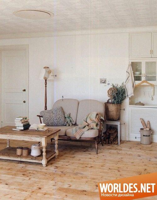 Уютные гостиные в деревенском стиле фото 27