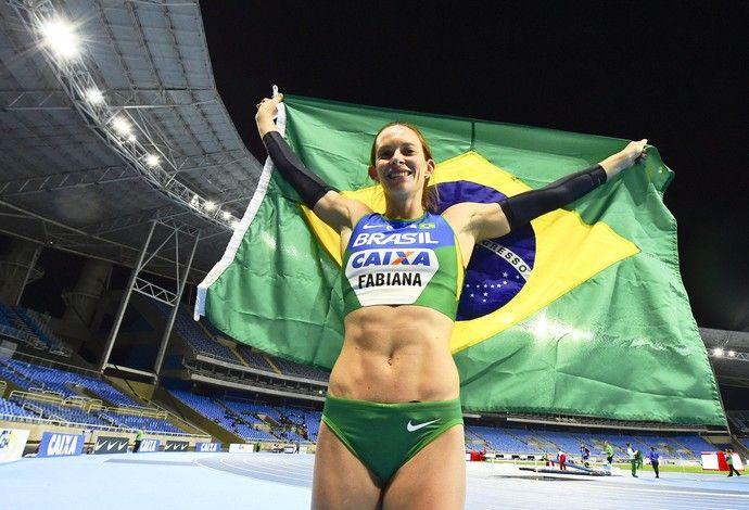Fabiana Murer no evento-teste de atletismo no Engenhão (Foto: Wagner Carmo/CBAt)