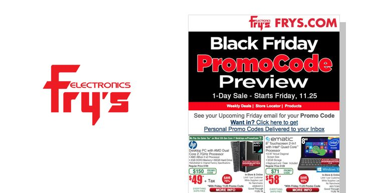 Fry's Black Friday 2016 Ad Posted!