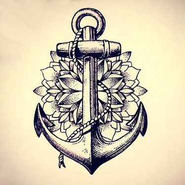 Dotwork Anchor Tattoo Design