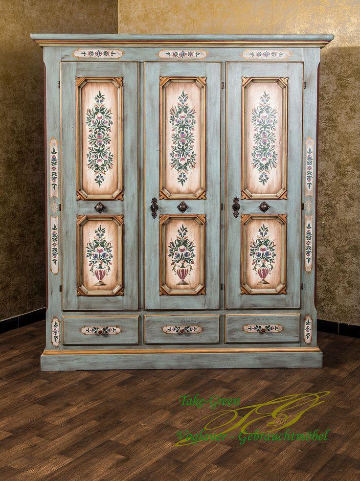 Voglauer Anno 1700 Altblau Bauernschrank Kleiderschrank Landhaus Massivholz